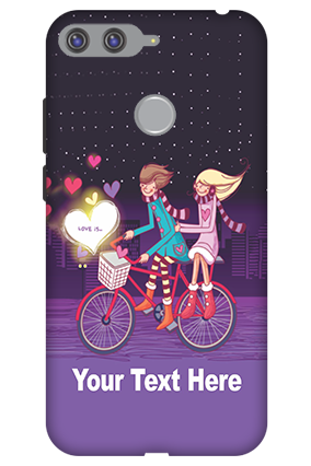 3D-Huawei Honor 7A Ride Valentine'S Day Mobile Cover