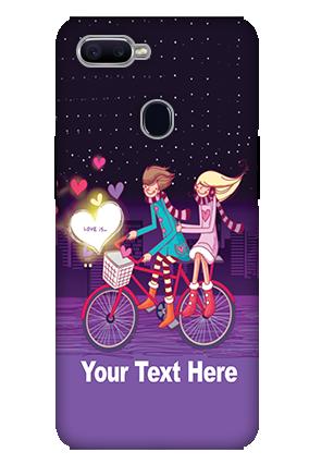 3D-Oppo F9 Ride Valentine'S Day Mobile Cover