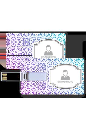 Designer Blue and Green Plastic Credit Card Pen Drive