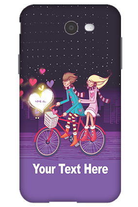 Personalized 3D-Samsung Galaxy J7 Ride Valentine's Day Mobile Cover
