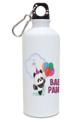 Baby Panda Personalized Kids White Color Sipper