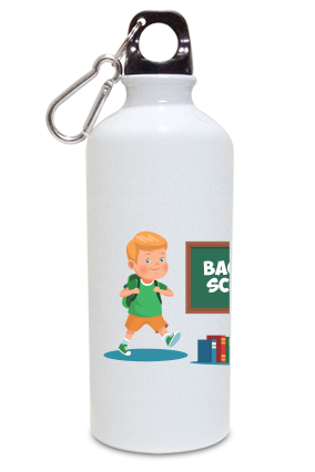 Back to School Kids White Color Sipper