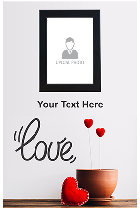 Ardent Love Personalized Valentine Poster