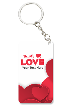 Be My Love Valentine Small Rectangle Key Chain