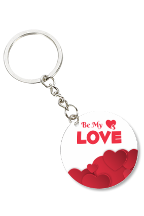 Be My Love Valentine Round Key Chain