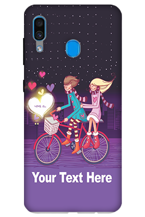 3D-Samsung Galaxy A30 Ride Valentine's Day Mobile Covers
