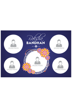 Loving Sister Customized Raksha Bandhan Landscape Collage