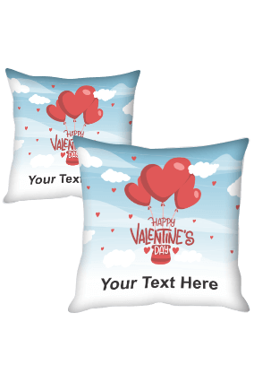 Heart Parachute Valentine's day Cushion Cover