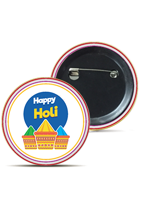 Colorful Gulal Trendy Holi Badges