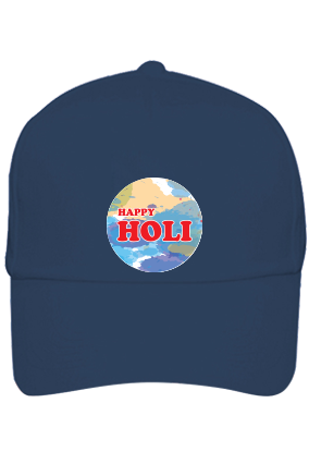 Colorful Abstract Personalized Holi Cotton Blue Cap