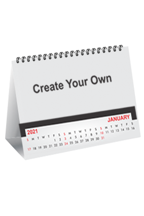 Create Your Own Desk Photo Table Calendar(10 x 8 Inches) - 12 Leaves