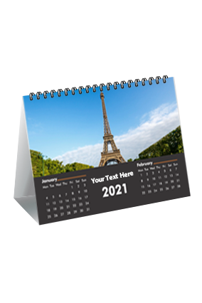 Elegent Black Desk Photo Calendar(8 x 6 Inches) - 6 Leaves
