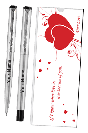 Parker Vector Ss Ct (Rb+Bp) Pen Sets With Love Quote 9000018245