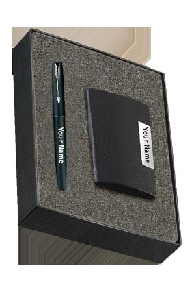 Parker Frontier Matte Black Ct Rb + Card Holder 9000021040