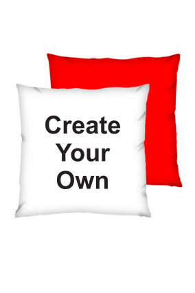 Create Your Own Polyester Square Red Cushion