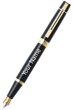 Sheaffer Gloss Black Featuring Gold Tone Trim 9325 Fp Pen