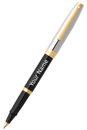 Sheaffer Black Barrel And Chrome Cap Featuring Gold Tone Trim 9475 RB Pen