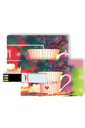 Charming Mug Design Credit Card Pen Drive