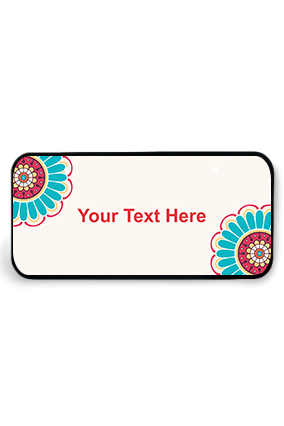 Colorful Flowers Wooden Nameplate