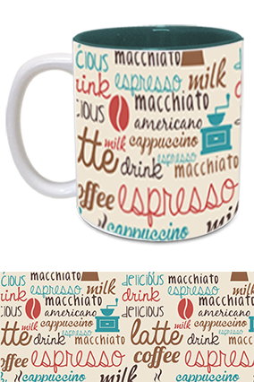 Coffee Love Trendy Inside Green Mug