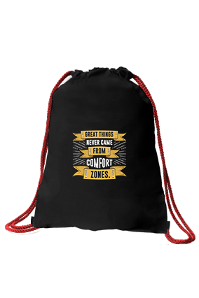 Great Things Black Sack Bag