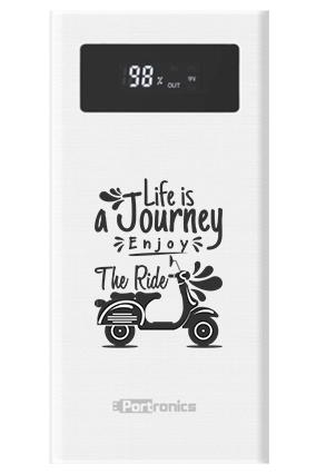 Life is Journey Customized 20000mAh Portronics Power Bank White - POR-783