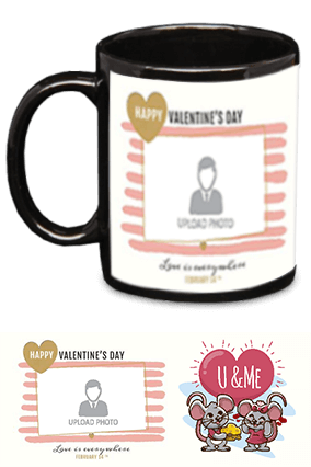 U & Me Black Patch Mug