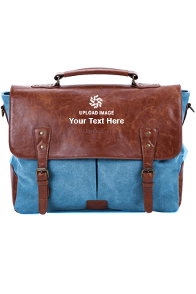 Customised Portronics Unisex Elements U Laptop Bag (POR-822, Blue)