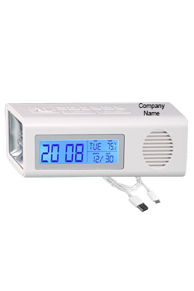 3 in 1 Clock with FM and Torch with Dual Power Option (with USB wire)-A114