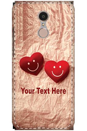 3D - Xiaomi Redmi 5   Smiley Hearts Mobile Cover