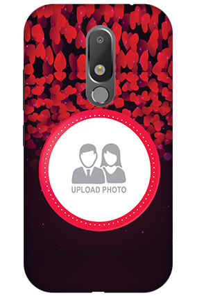 Personalised 3D-Motorola Moto M Gleaming Hearts Mobile Cover