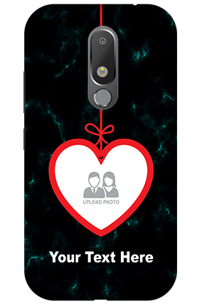 Personalized 3D-Motorola Moto M Hanging Heart Mobile Cover
