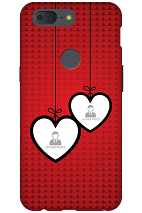 3D - OnePlus 5T Luxury Red Hanging Heart Mobile Cover