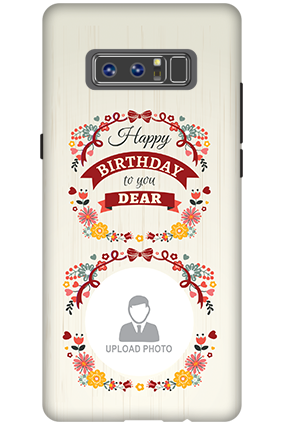 3D - Samsung Galaxy Note 8 Birthday Wishes For Dear Mobile Cover