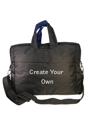Create Your Own Black & Blue Laptop Hand Bag