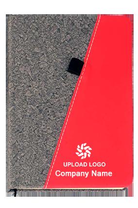 Gray Pu Combi A5 Notebook (Slash Design)-B76