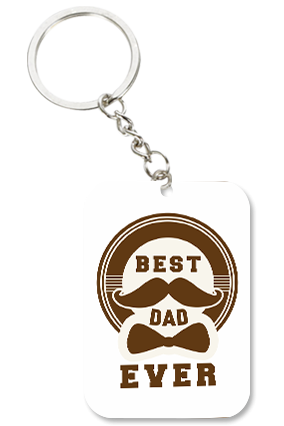 Best Dad Ever Big Rectangle Key Chain