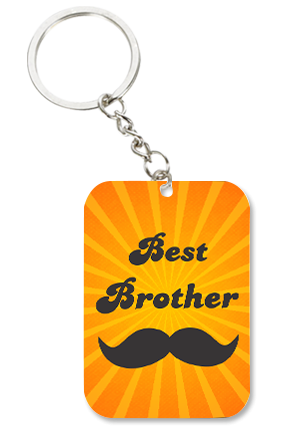 Best Brother Big Rectangle Key Chain