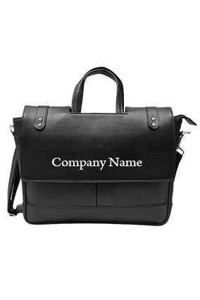 Promotional Black Unisex Leatherite Bag
