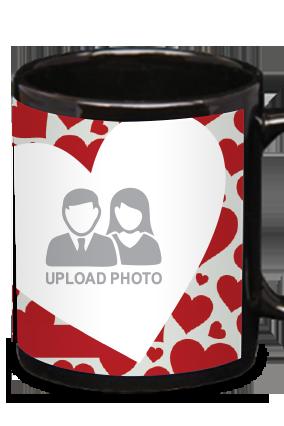 Big Hearts Black Patch Mug