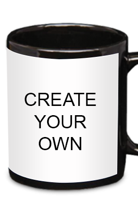 Create Your Own Black Patch Mug