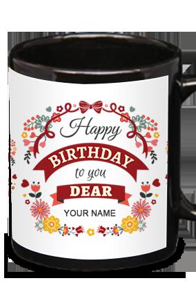 Customize Wishes Black Patch Mug