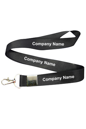 Company Name Black Lanyard
