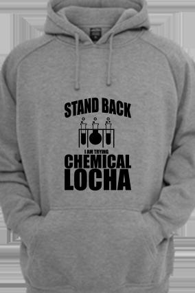 Chemical Locha Black Print Gray Hoodie