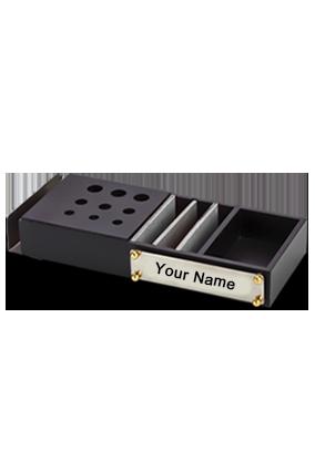 Black Wooden Organiser BTC-4160