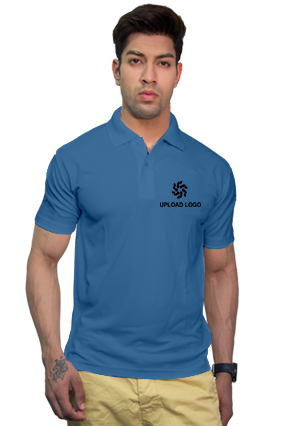 160GSM - Create Your Own Sky Blue Collar Dry-Fit T-Shirt