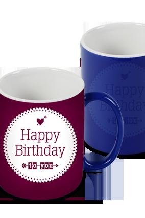 Cute Blue Magic Mug