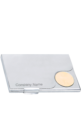 Silver Color Metallic Visiting Card Holder BVC-807