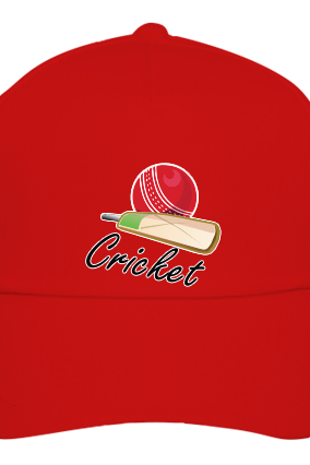 Cricket Player Red Cap with Name
