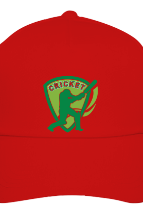 Batting Red Cap for Team